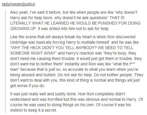 Harry Potter & abuse || for all of you Harry- haters could you hate Harry?!?!?! I can't comprehend it!!!