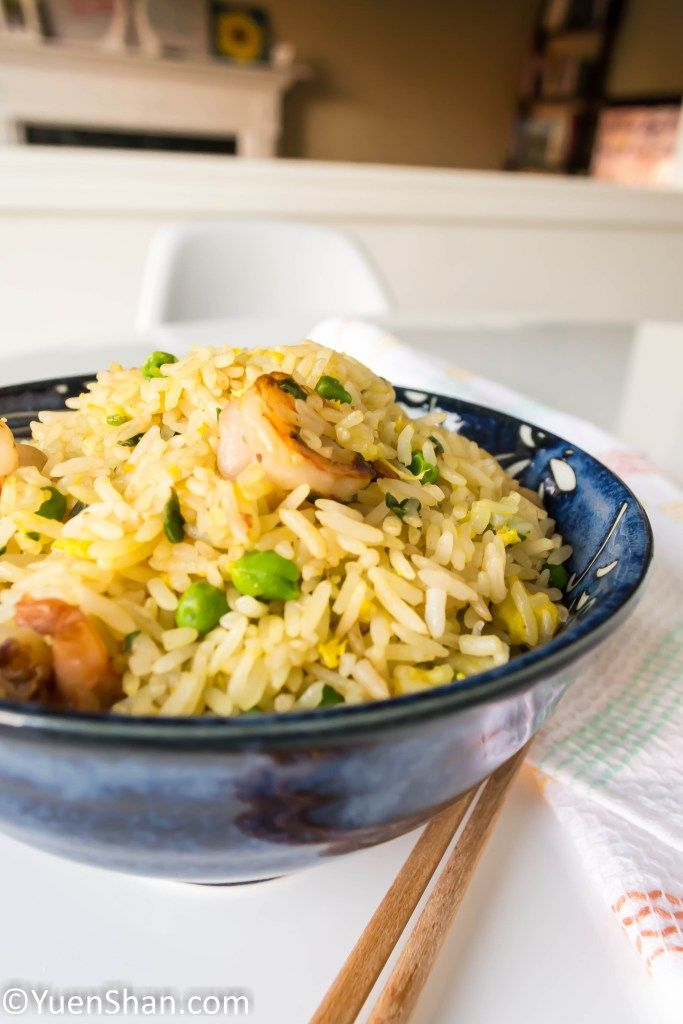 Easy lunch ideas - Chinese Fried Rice with Prawns