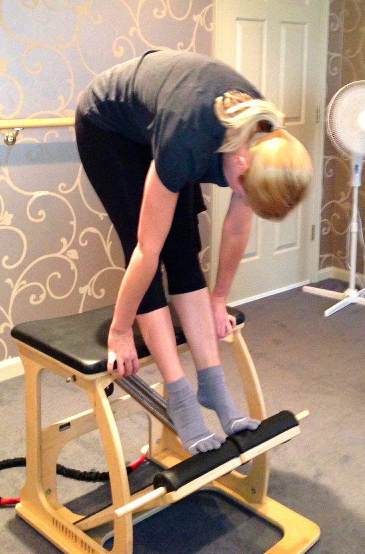 Pilates malibu chair buy malibu chair pilates combo - Tendon Stretch On Exo Chair Pilates Chairexoworkoutexercise
