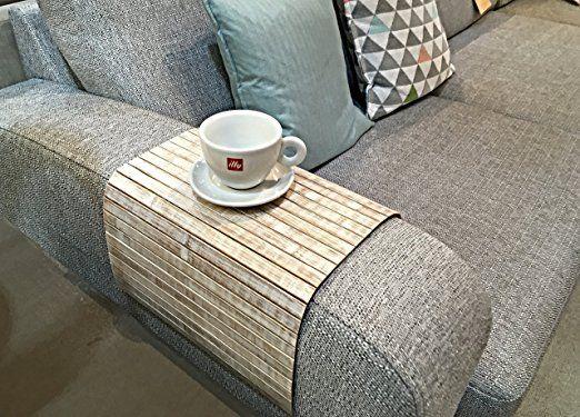 Ablagefach Für Hocker  Oder Liegesesselschublade Flexibel. Rustikaler  Strandstil. Sofa Tablett Aus Natürlichem Bambus