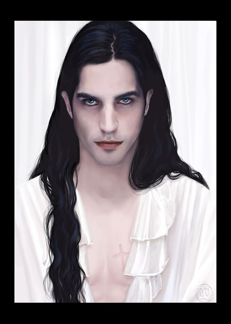 An artist's rendering of the fictional Jean-Claude from the Anita Blake Vampire Hunter series by Laurell K. Hamilton