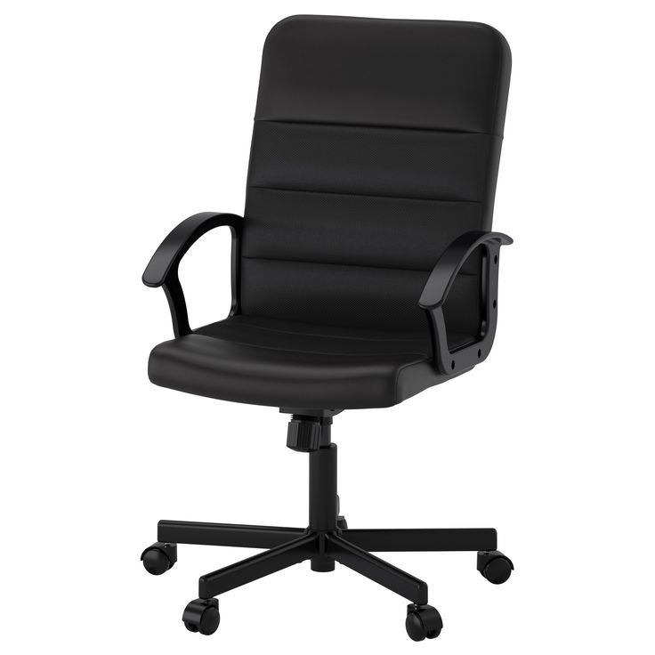 IKEA - RENBERGET, Swivel chair, , This desk chair has adjustable tilt tension that allows you to adjust the resistance to suit your movements and weight.You sit comfortably since the chair is adjustable in height.The safety casters have a pressure-sensitive brake mechanism that keeps the chair in place when you stand up, and releases automatically when you sit down.