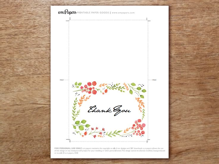 23 best Printable Thank You Cards images on Pinterest Card - thank you card template