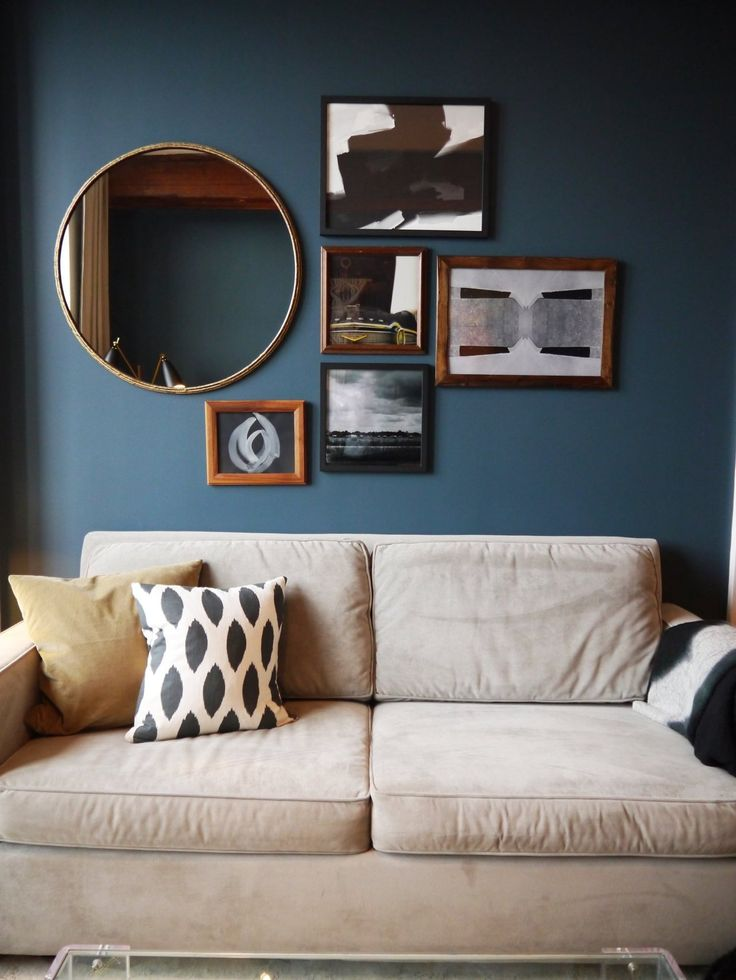 Best 25 mirror above couch ideas on pinterest above - Ideas decorating living room walls ...
