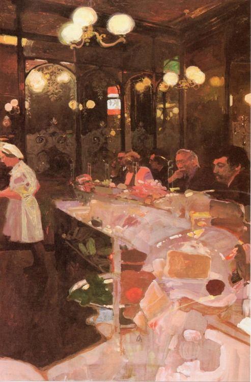 more Bernie Fuchs.. reminds me of sad, yet beautiful Parisian life
