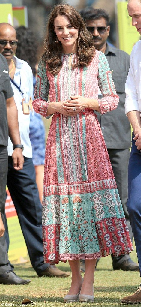 Kate was wearing a cool dress by Mumbai designer Anita Dongre, who also has a studio in London.