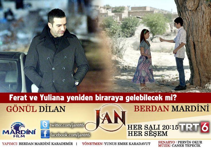 """Ferat ve Yuliana yeniden biraraya gelebilecek mi?  """"JAN(SIZI)"""" Bu akşam 20:15'te TRT 6 ekranlarında. """"JAN"""" îşev 20:15 an de TRT 6 ê de.  www.facebook.com/jantrt6"""