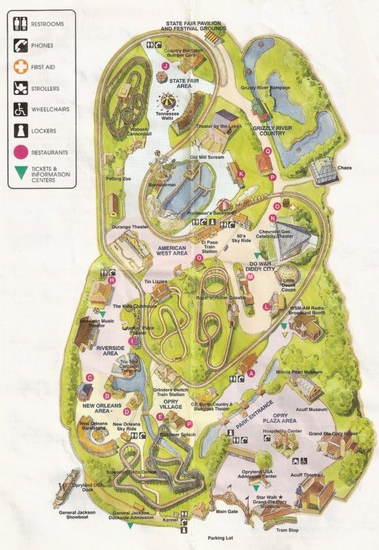 1979 park map.jpg  Opryland Theme Park