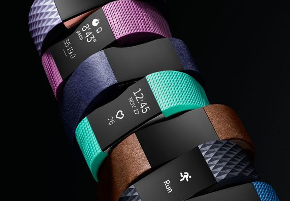 ♥ mein´s :-) ..habe ich - liebe ich... :-)  The new Fitbit Charge HR 2 with new colorful bands.