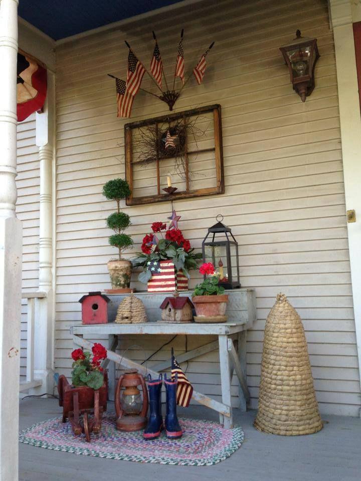 Americana decorated porch
