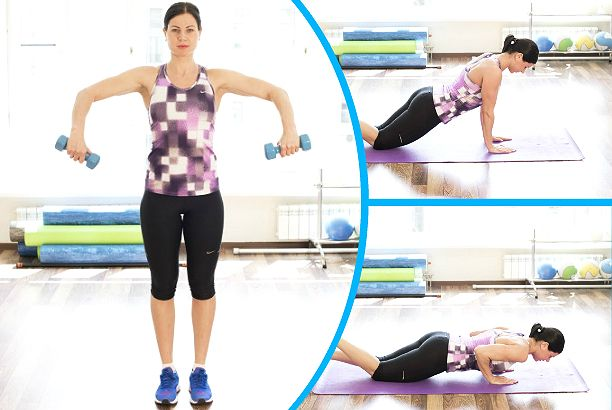 Эффективные упражнения для дряблых рук