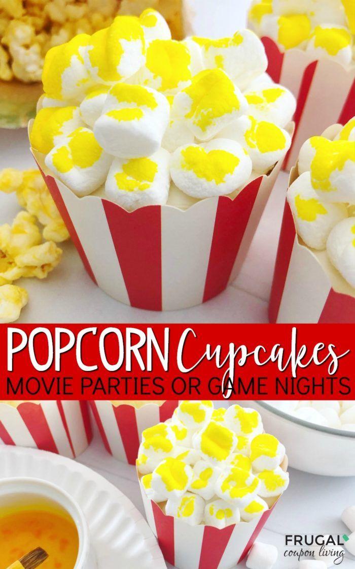 Popcorn Cupcakes Recipe Popcorn Cupcakes Popcorn Recipes