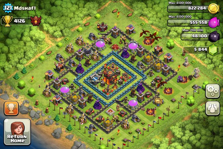 Base Designs - Ultimate Clash of Clans Guide Check out the following base layouts based on your Town Hall Level.  #clashofclans