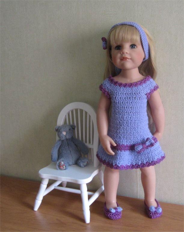 17- FICHE PATRON CROCHET Tenue Mélanie pour poupée Hannah de GOTZ : Jeux, jouets par atelier-crochet