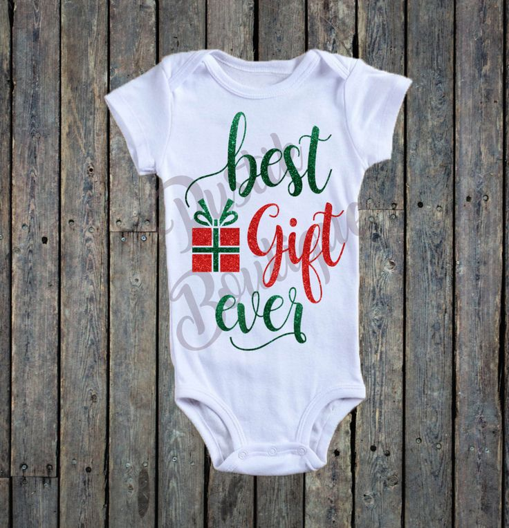 Best Gift Ever Onesie®/ Christmas Onesie®/ Baby girl onesie®/ present Onesie®/ gift Onesie®/ Holiday onesie®/ First Christmas onesie®/ Baby by RustikBoutique on Etsy