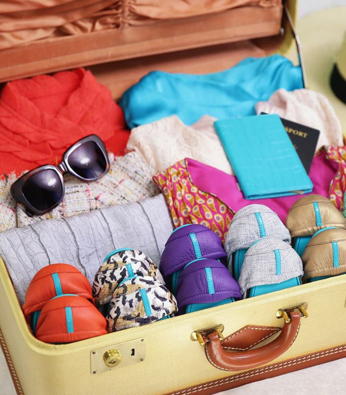 Compact and colorful, Tieks are the perfect travel companion! | Tieks Ballet Flats: