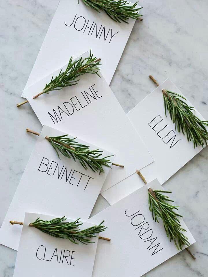 Menu/plaats naamkaartjes voor kerst