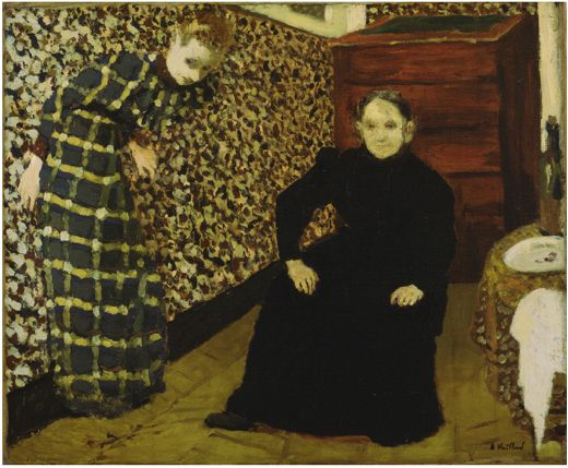 "Édouard Vuillard. Mother and Sister of the Artist. c. 1893. Oil on canvas. 18 1/4 x 22 1/4"" (46.3 x 56.5 cm).: Modern Art, Sisters, French Interiors, The Artists, Édouard Vuillard, Edouard Vuillard, Art Prints, Painting, Artists Mothers"