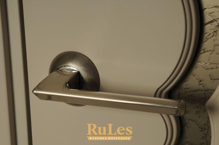 """Ручка для двери """"Ронда"""" от фабрики RuLes. #двери #межкомнатные #рулес #интерьер #дизайн"""