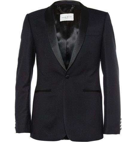 Sandro Slim-Fit Wool Tuxedo Jacket | MR PORTER