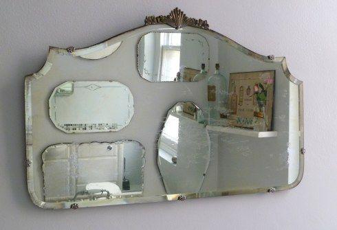 Frameless mirror wall.. LOVE!!!  | decoratorsnotebook.woordpress.com