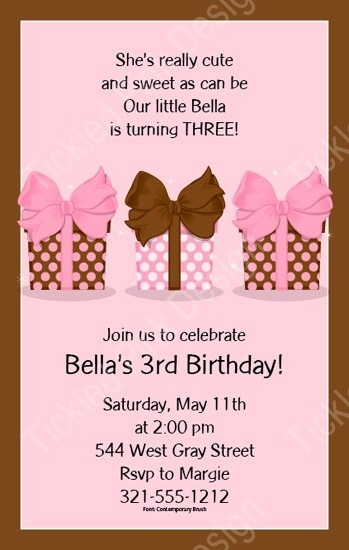 Pretty Pink Presents Invitation #gifts #presents #bow #baby #babyshower #pink #papersopretty