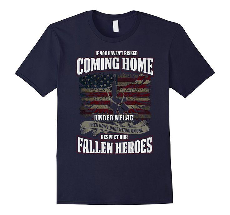 Respect Our Fallen Heroes Veterans T-shirt American Flag