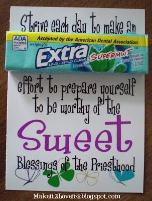 Make it 2 Love it: YW Preisthood Handout