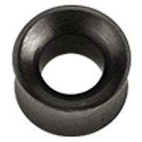 25 mm Double-flared tunnel zwart hout