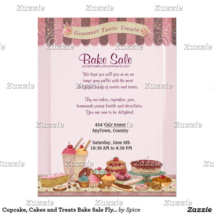 17 Best Ideas About Bake Sale Flyer On Pinterest