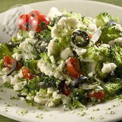 Broccoli and cauliflower salad with feta @ allrecipes.co.uk