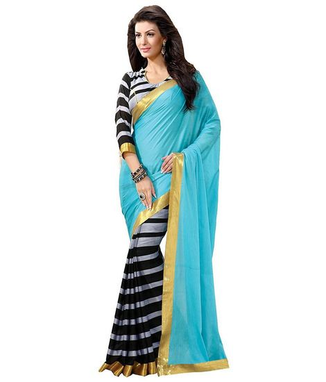 Kalash Bhagalpuri Silk Sarees Colour-Blue - Kalash Fashion Sarees for indian woman