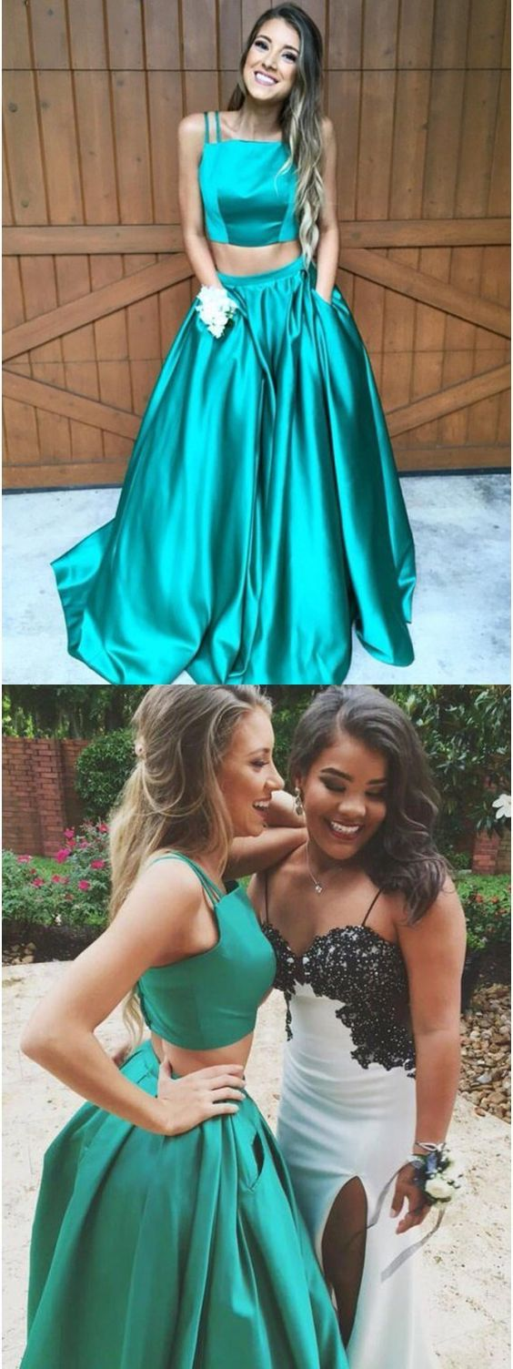 prom dresses,2 pieces prom dresses,2017 prom dresses,chic turquoise prom party dresses,simple turquoise prom dresses,evening dresses,chic evening dresses