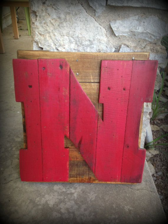 Paint it Green and you have? Instead of Nebraska Husker Red 'N' recycled pallet sign by RusticRestyle, $40.00