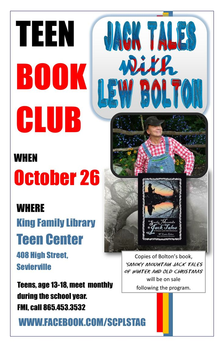 Teen author clubs possible speak