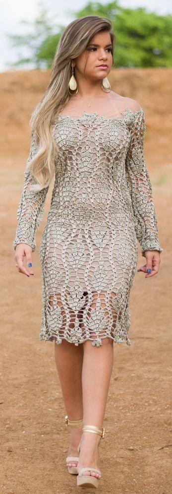 Inspirações de Croche com Any Lucy: Vestido                              …                                                                                                                                                                                 Mais
