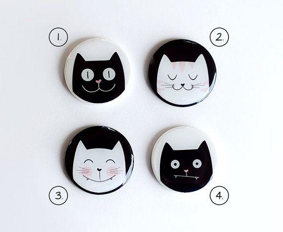 Fridge Magnets refrigerator locker magnets cat lovers by oceanyork