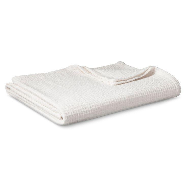 Chenille Blanket Cream (King) - Threshold, Sour Cream