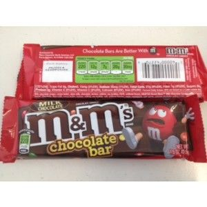M&Ms in a chocolate bar!