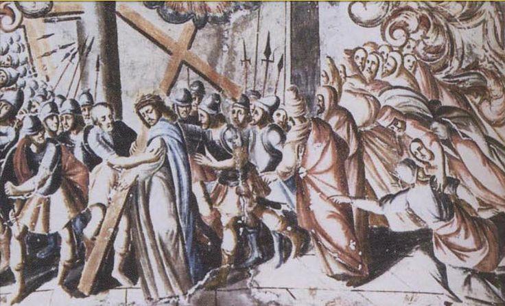 Cristo sacado del Pretorio y carga con Cruz, Miguel Antonio Martínez de Pocasangre, Santuario de Jesús Nazareno, Atotonilco, Gto   por Tach Jrez. Hra.