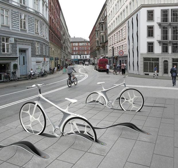 estacionamiento para bicis sin contaminación visual.