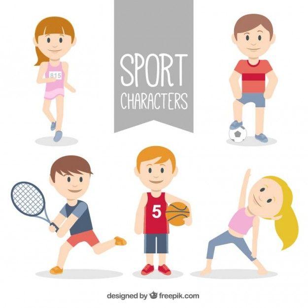 raccolta carattere sportivo Vettore gratuito