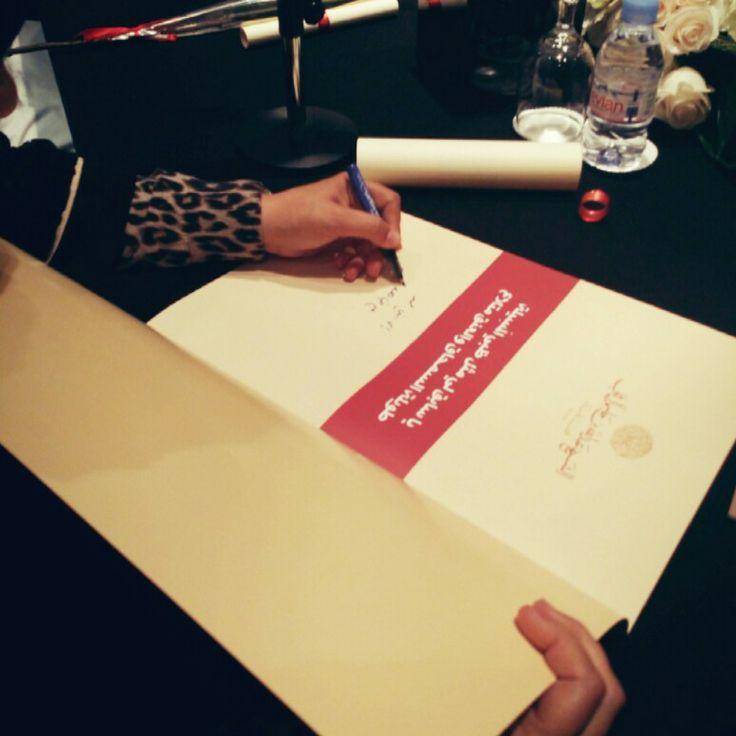 The author sign her book