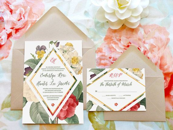 17 best ideas about botanical wedding invitations on pinterest, Wedding invitations