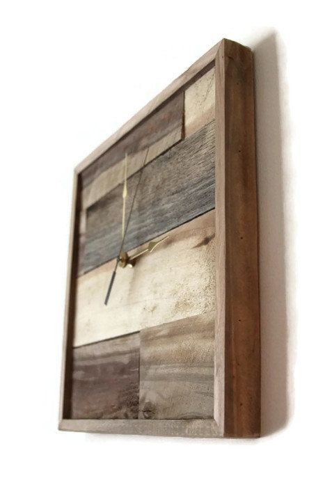 Square Wall clock Pallet Clock Handmade Wood Clock by RayMels