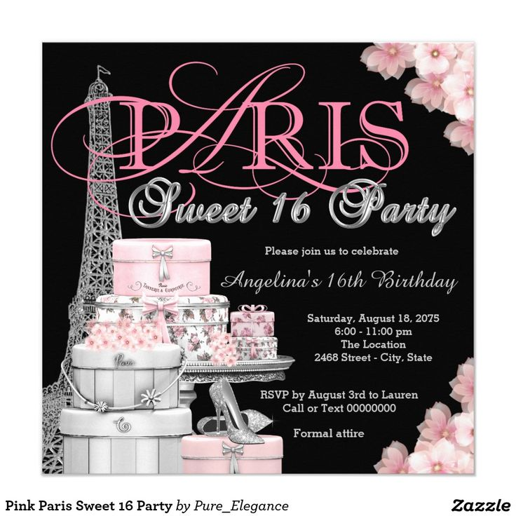 881 best SWEET SIXTEEN Invitations images on Pinterest | Blushes ...