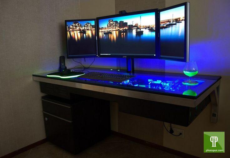 homemade gaming table | Gaming Computer Desk Uk