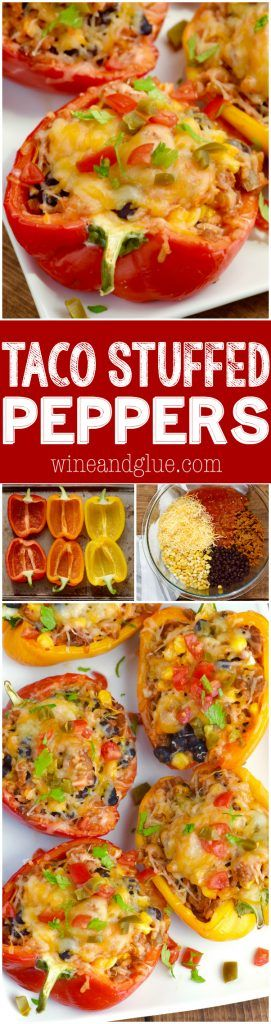 These Taco Stuffed Peppers are such an easy weeknight dinner that are packed with flavor! They are going to become a regular on your family's menu!
