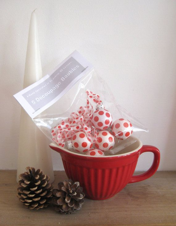 Christmas decorations  Red and White Spotty by ADogLikeSparky