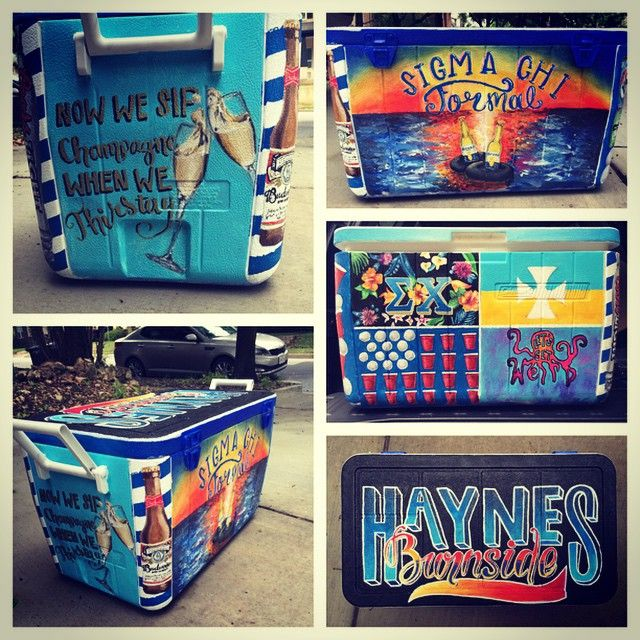 #tbt to that week I skipped class to paint a frat cooler.